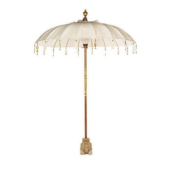 Cream Pearl Garden Umbrella  by Indian Garden company! Think I will embellish my umbrella a little! What fun to experiment....