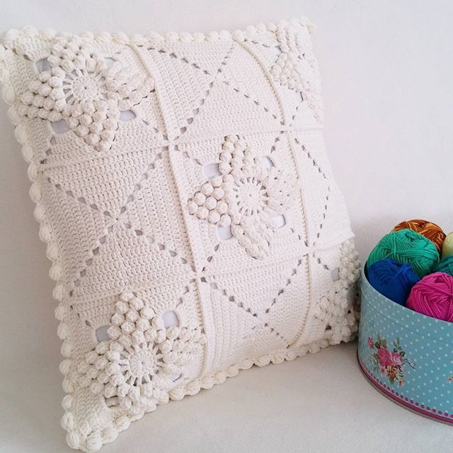 3241 best crochet cojines y almohadas images on pinterest - Cojines a crochet ...