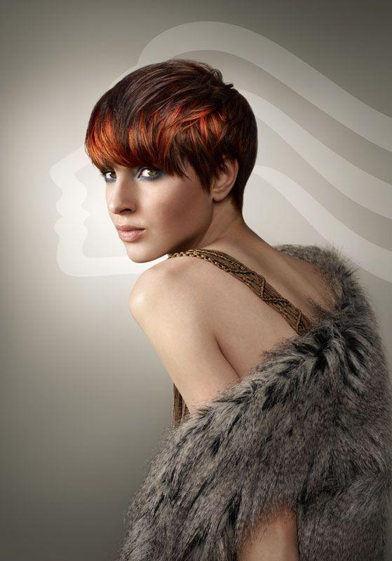 Voor de dames met bruin haar hebben wij een leuk idee! Bekijk de 12 korte modellen van dames met bruin haar en koper kleurige highlights. - Kapsels voor haar