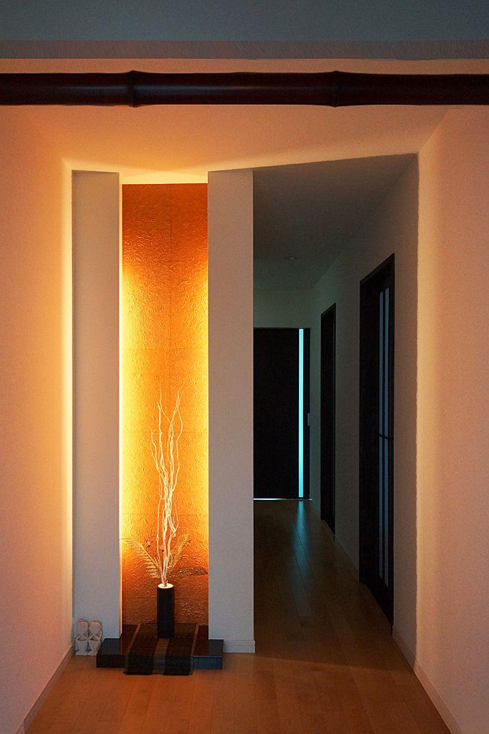 玄関|ニッチ|間接照明|Entrance|Niche|Indirect illumination