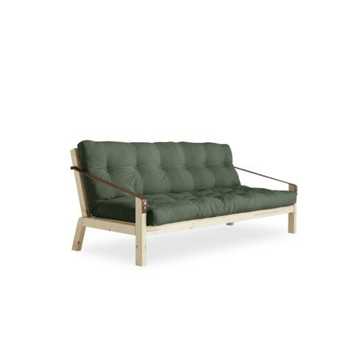 Schlafsofa Poetry Karup Design Polsterfarbe Olive Beinfarbe
