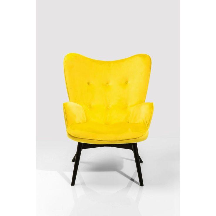 Πολυθρόνα Vicky Velvet Yellow  Η γνωστή πλέον πολυθρόνα διατίθεται σε καινούργια χρώματα και υφάσματα.  €395