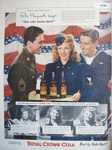 U.S.: Rita Hayworth for Royal Crown Cola, 1943