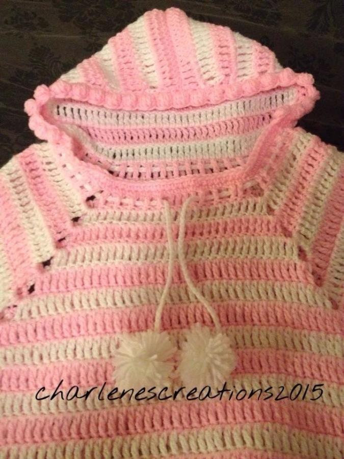 Excepcional Crochet Patrón Niño Poncho Cresta - Manta de Tejer ...