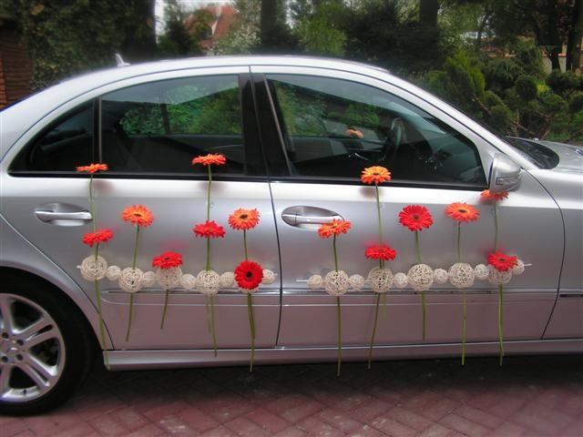 flower car, decoration, wedding car