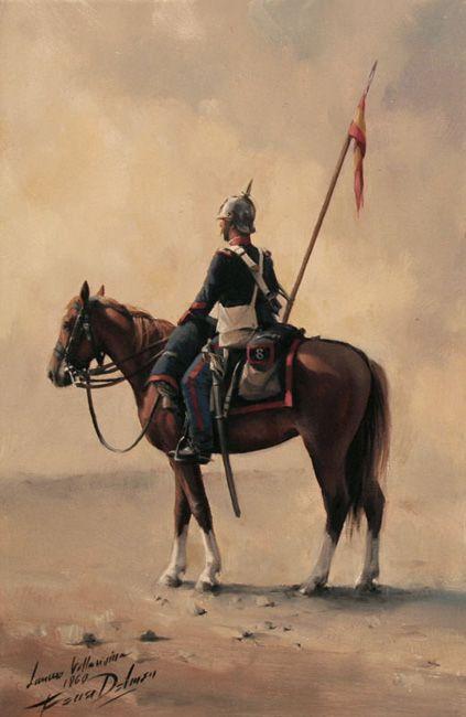 Lanceros de Villaviciosa 8º 1860