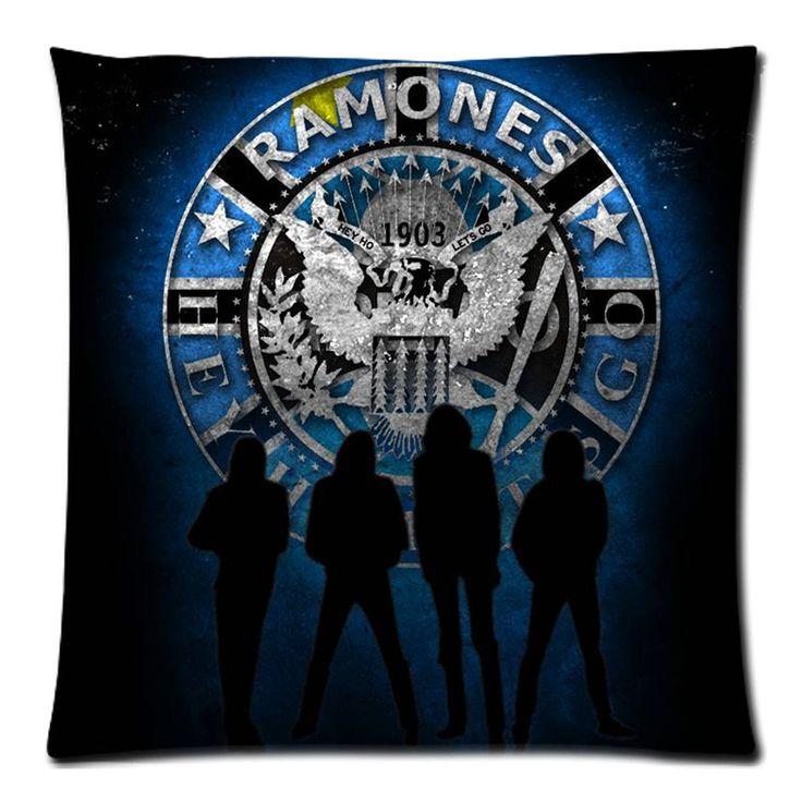 Cotton Linen Ramones Custom Cushion Cover Decoractive Pillow Cover Throw Pillow Case kids Gift 45X45CM