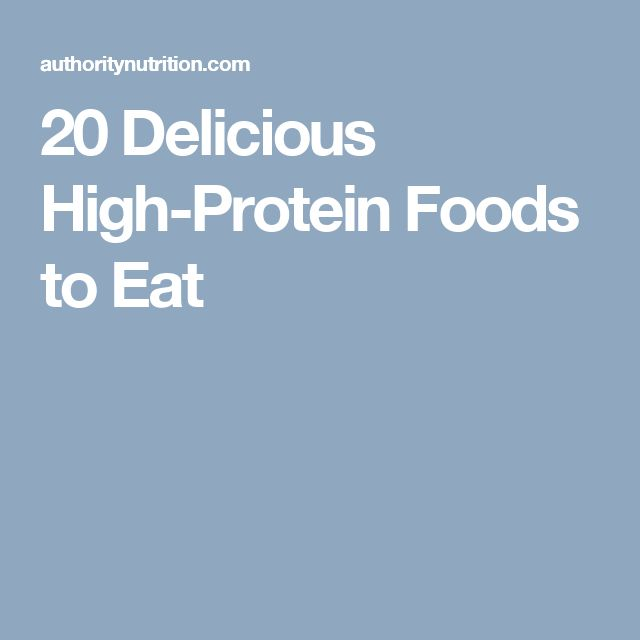 20 Delicious High-Protein Foods to Eat