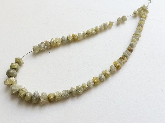 Yellow Green Diamonds Rough Diamonds Raw Diamonds by gemsforjewels