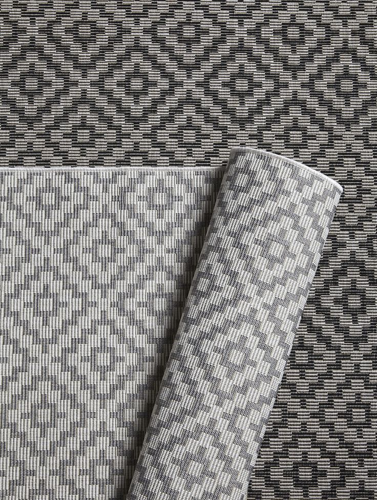 Hertex Rubix Rugs in Pumice and Cinder.