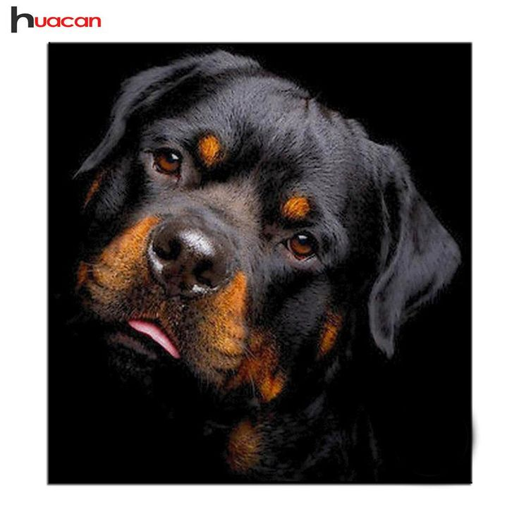 [Visit to Buy] Diamond Painting Cross Stitch Rottweiler Dog Full Square Drill Diamond Embroidery Europe Home Decor Mosaic Kits Christmas Gift #Advertisement