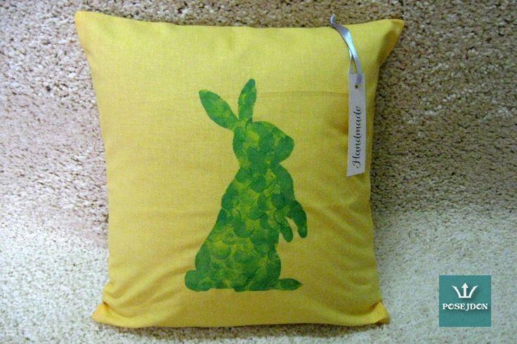 Poszewka zielony królik