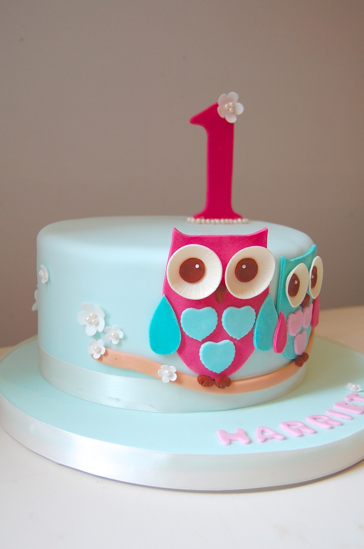 Pastel Owl Cake 6 Inch For Girls First Birthday Party Things I