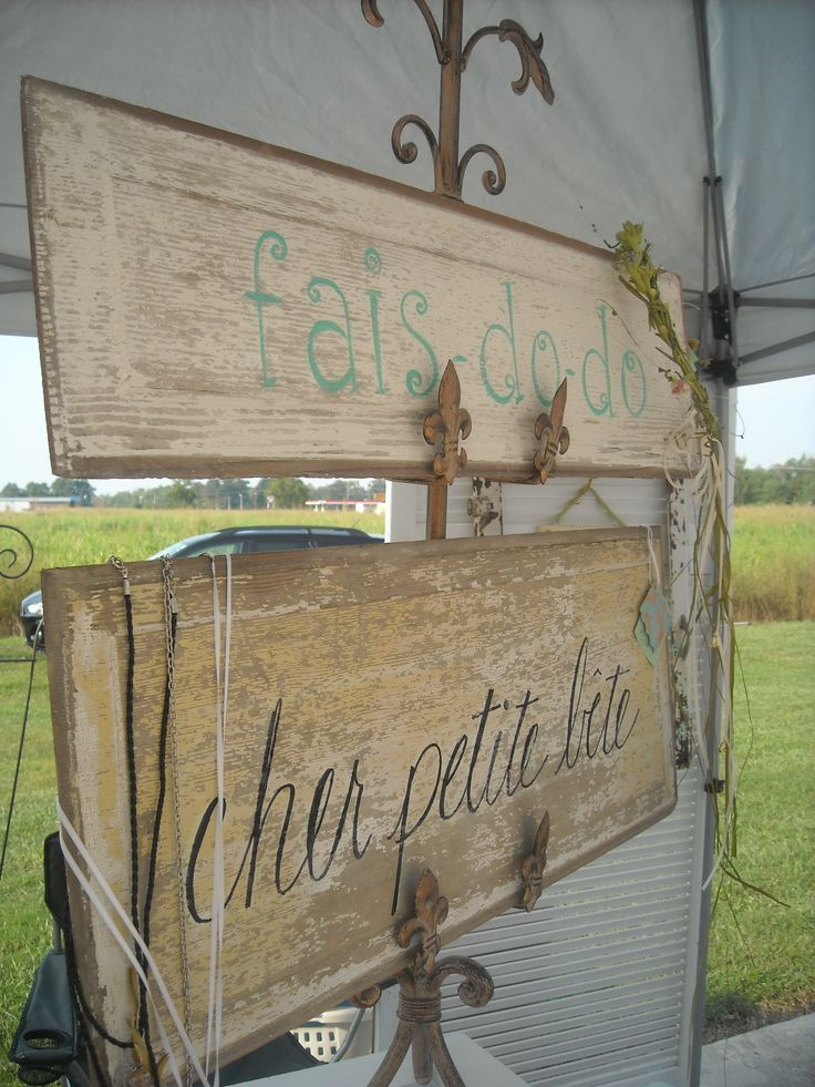 """Cajun french sayings:  """"cher petite bete"""" means sweet little thing. """"fais do do"""" is a cajun dance party"""