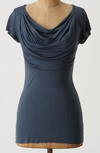 Beautiful cowlneck with link to instructions for sewing.
