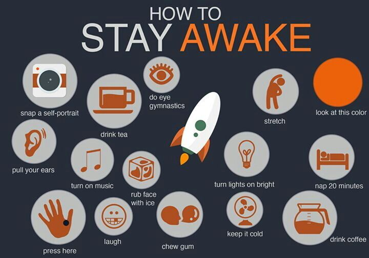 things to help you stay awake