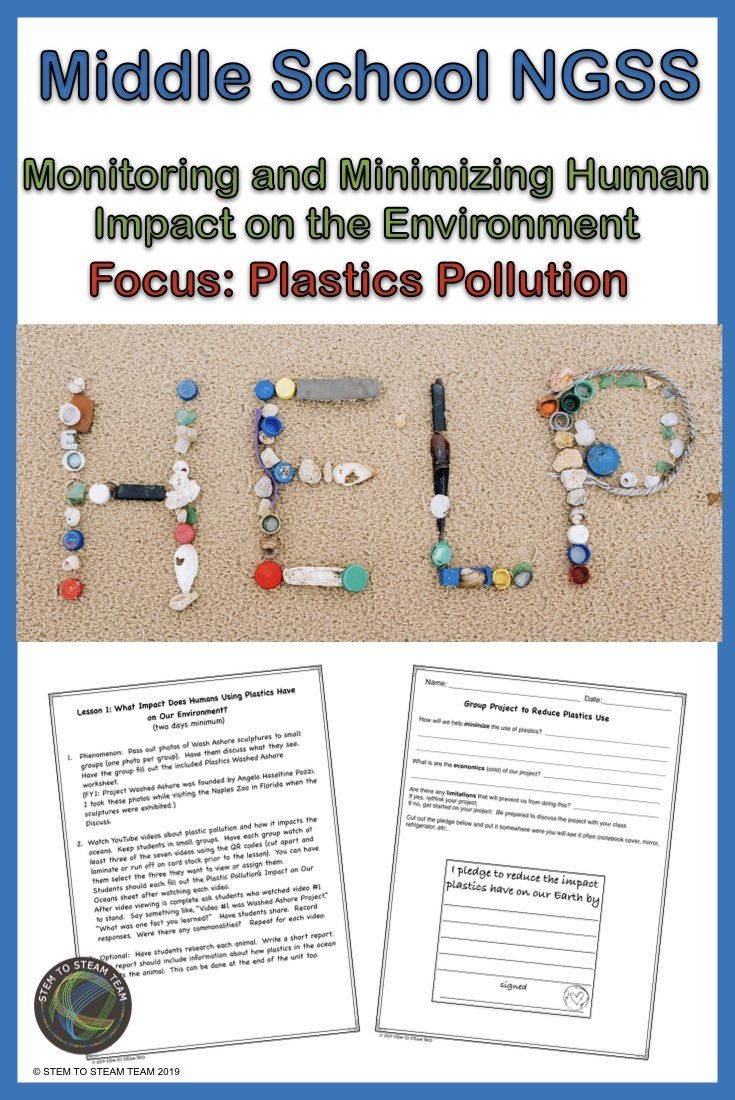Human Impact On The Environment Focus On Plastics Ngss Ms Ess3