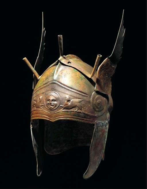 Greek Chalcidian Type Bronze Winged Helmet, Circa 4th Century BC
