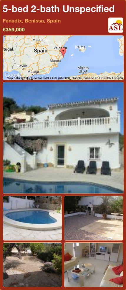 5-bed 2-bath Unspecified in Fanadix, Benissa, Spain ►€359,000 #PropertyForSaleInSpain