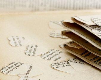 Hochzeit Dekorationen 10 Papier-Herzen Shakespeare von Bookity