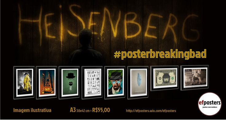 Fã de Breaking Bad? efposters personaliza para você!   #efposters #efposters_oficial #posterpersonalizados #posters #quadros #posterbreakingbad #breakingbad #heisenberg