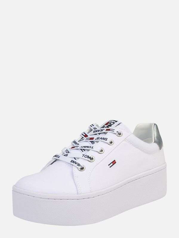 half off 355f8 3d011 Tommy Jeans Sneakers laag in Wit bij ABOUT YOU bestellen ...