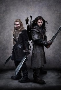 Still of Dean O'Gorman and Aidan Turner in The Hobbit: An Unexpected Journey
