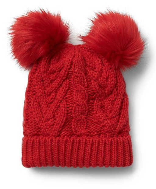 a86dec9e08594 Gap Pom-pom cable knit beanie