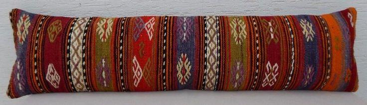 12 X 48  Bohemian Queen Boho Bedding Kilim Pillow Cover,King Long Bed Cushion #Handmade