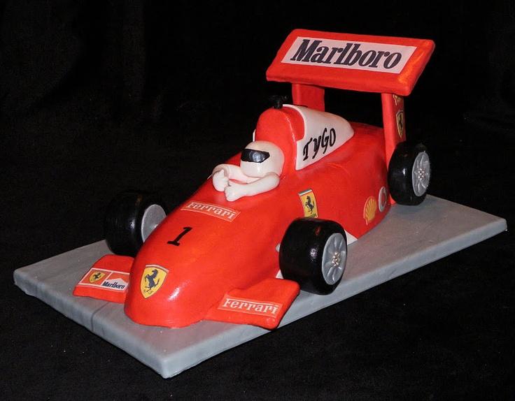 Formula 1 Race Car Cake