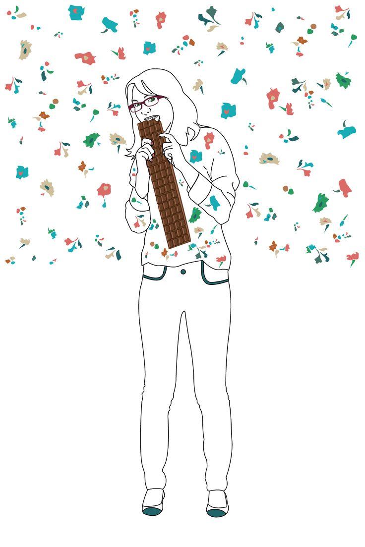 PTAK-Idée cadeau : les photos personnalisées - illustration - chemise à fleurs - flowers - chocolat - chocolate