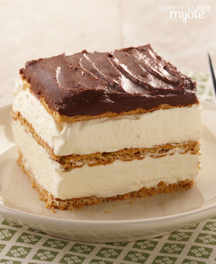 Dessert éclair aux biscuits graham #recette