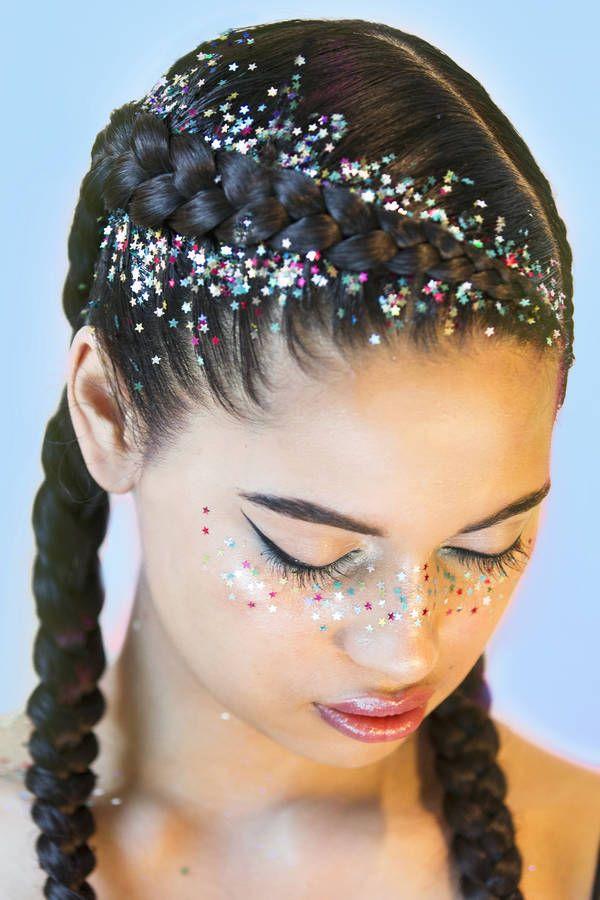 glitter hair ideas