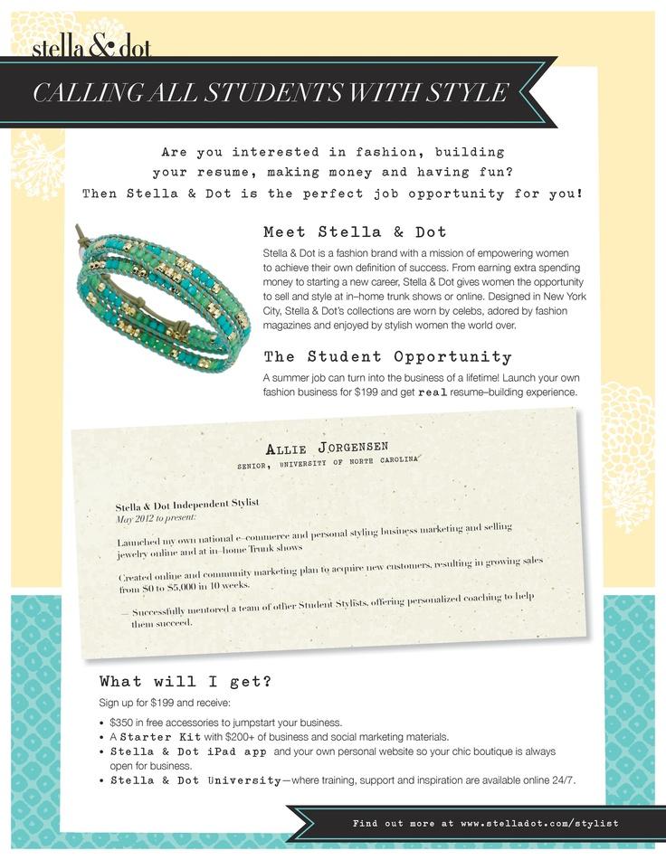 82 best My Life as a Stella  Dot Stylist images on Pinterest - resume maker app
