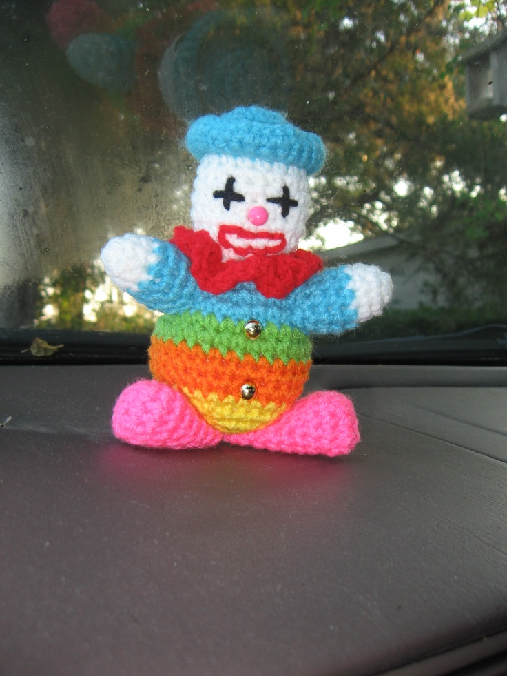 A clown for a different teacher of my son's.  This one is afraid of clowns.....my son has requested a bigger one for next year!  I whipped this one up over night.