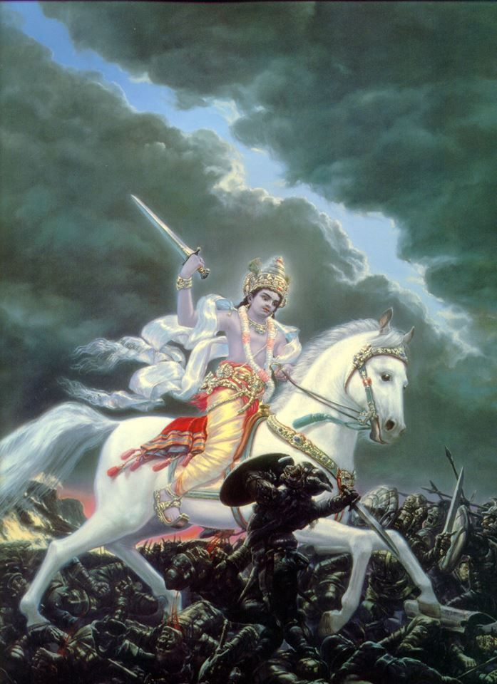 Kalki Avatar: The apocalyptic horse rider.