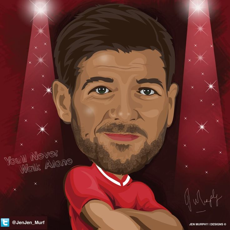 Steven Gerrard illustration by @Jenjen_Murf #Soccer