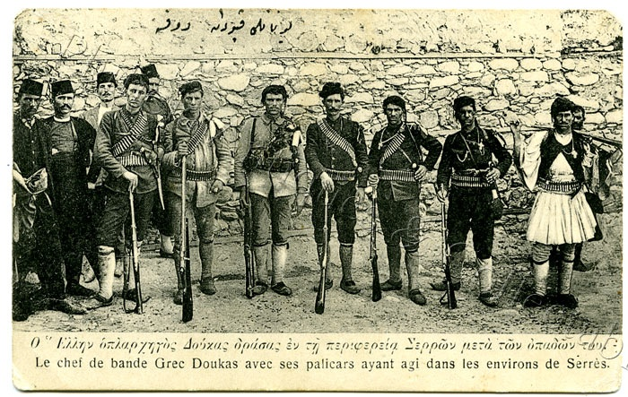 C1913 Printed Postcard Greek Militia Near Serres Macedonia 1st Balkan War | eBay