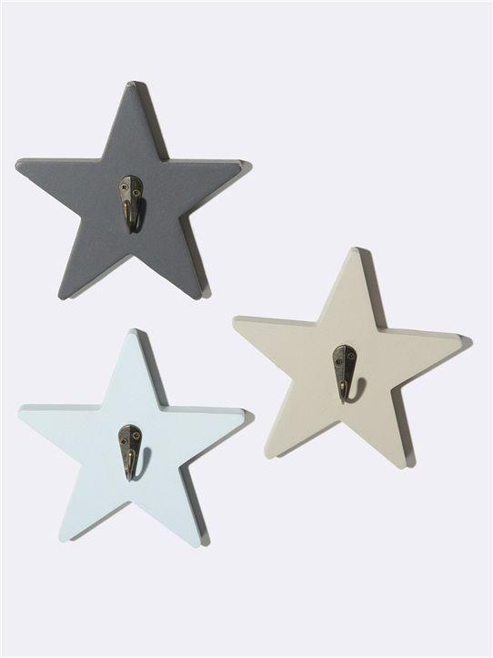 Wandhaken 'Stern', 3er-Set