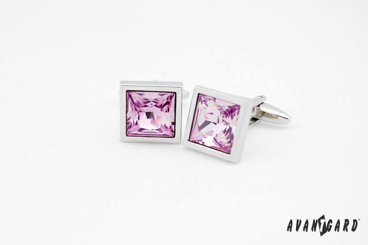 Fialové manžetové knoflíčky AVANTGARD /// Violet cufflinks AVANTGARD