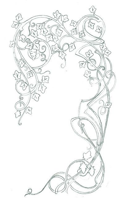 more art nouveau line work
