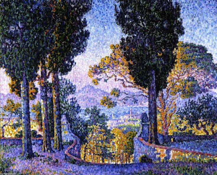 Sainte-Anne (Saint-Tropez), huile sur toile de Paul Signac (1863-1935, France)
