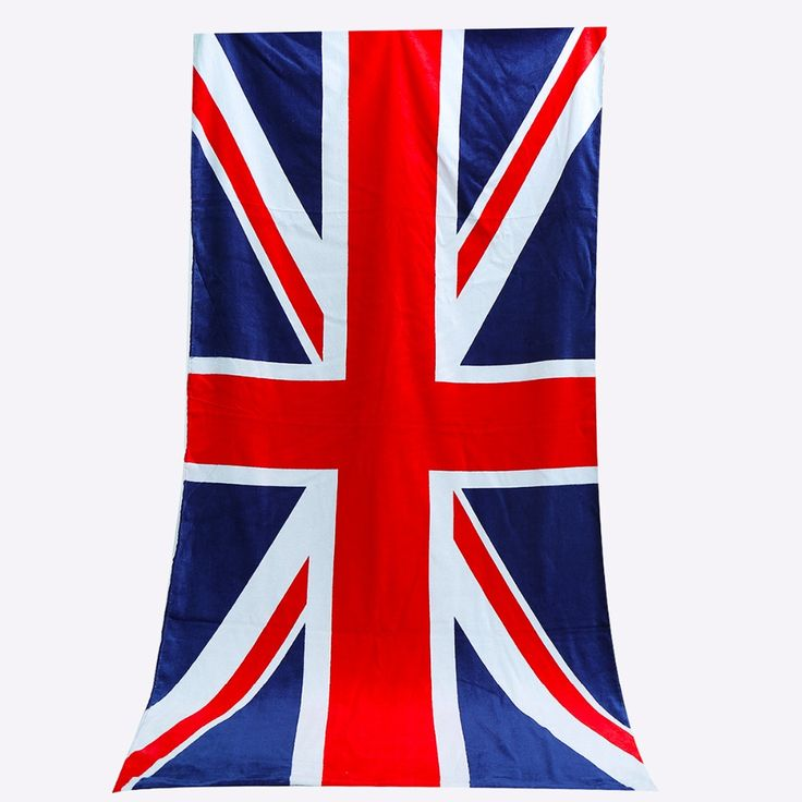 Beach Towel Cotton UK Flag Design British Style Bath Towels For Adults Toalla