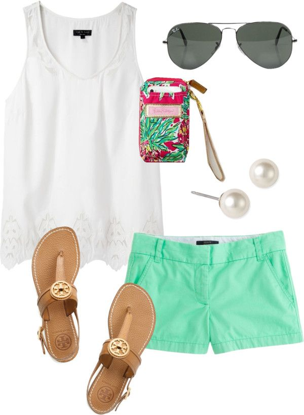 """Young & Preppy"" by classically-preppy ❤ liked on Polyvore Pretty much what I plan on wearing all summer"