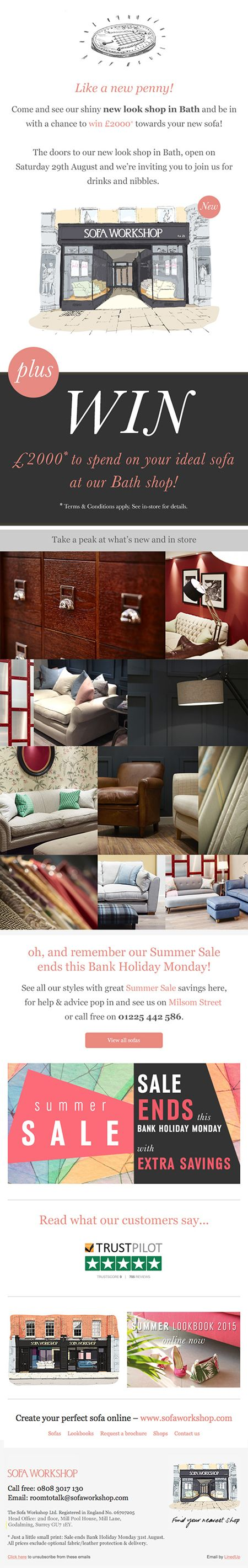 Sofa Workshop Easter Sale