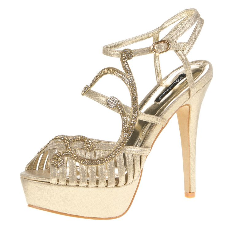 hoge plateau Stiletto hakken met strass - goud > http://www.emeralbeautylife.nl/index.php?route=product/product&product_id=927