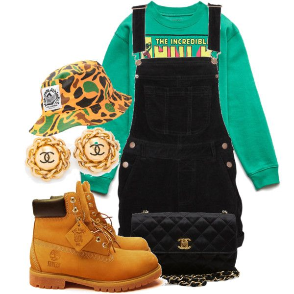 A fashion look from January 2014 featuring Forever 21 sweatshirts, Timberland boots and Chanel handbags. Browse and shop related looks.