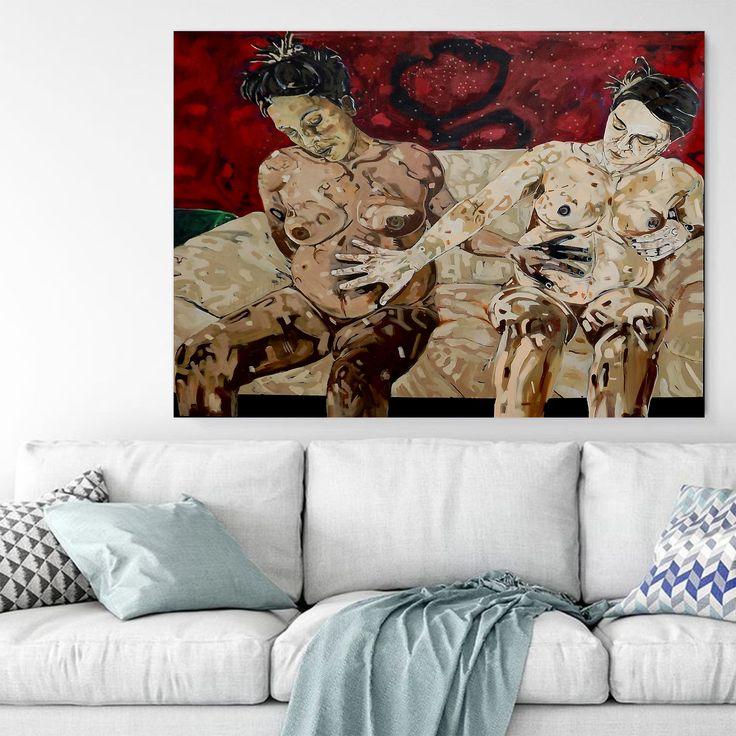 Hamile Kadınlar (Pregnant Women) by Abdulkadir Arslan Tuval üzerine Akrilik / #Acryliconcanvas 122cm x 110cm  #gallerymak #sanat #resim #tablo #eser #gununkaresi #resimsergisi #sergi #dekoratif #artcollectors #içmimar #dizayn #tasarim #dekorasyon #evdekorasyon #icmimari #mimar #modernsanat #figurative #painting #acrylicpainting #nude #artgallery #artbasel #contemporaryart #modernart #interiordesign