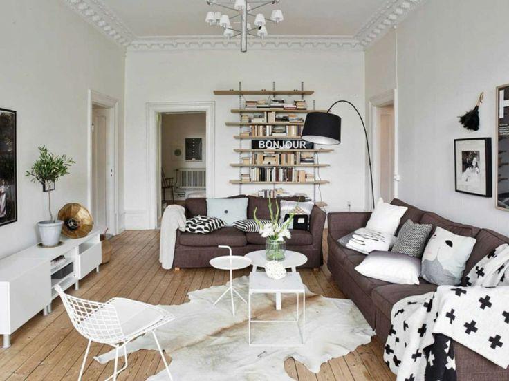 Die besten 25+ Wohnzimmer mit braunen Sofas Ideen auf Pinterest - wohnzimmer komplett weis