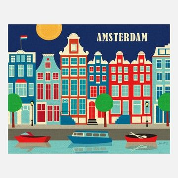 My design inspiration: Amsterdam Print on Fab.